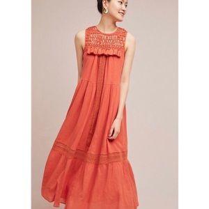 Maeve Anthropologie Abilene Orange Dress